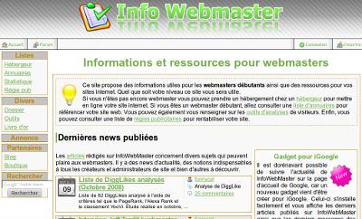 Design V1 de InfoWebMaster (2007)