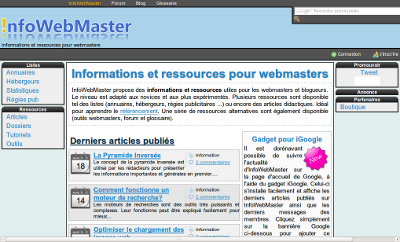Design V2 de InfoWebMaster (2009)