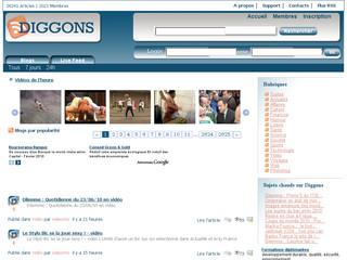 Capture de la mise à jour de Diggons.com