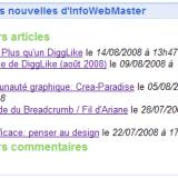 Exemple gadget Google InfoWebMaster