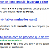 Apercu d&#039;un snippet Google avec des caractres spciaux