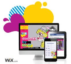 Site web Wix (site mobile et page Facebook)