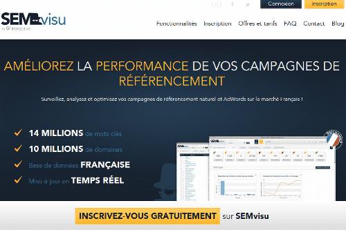 Aperçu du site SEMvisu