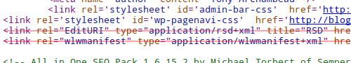 Code source de balises à supprimer de WordPress
