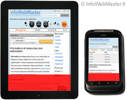 Interface responsive adaptées aux différents supports