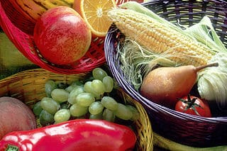 Image originale de fruits et légumes