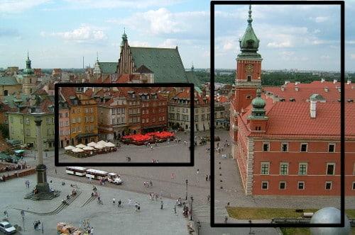 Photo de Varsovie découpée en plusieurs photos