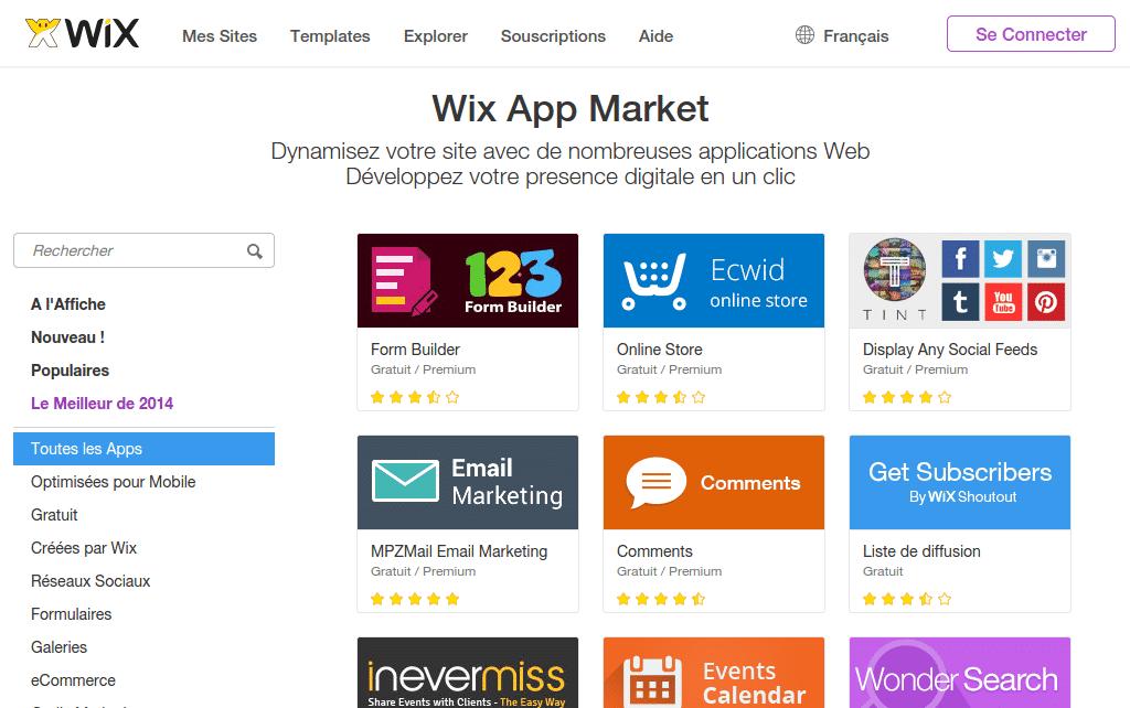 App Market Wix