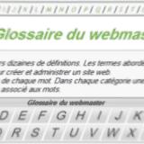 Capture glossaire pour webmaster